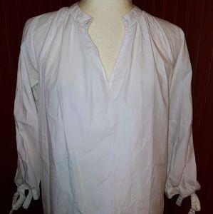 White V-neck Blouse Madewell XS